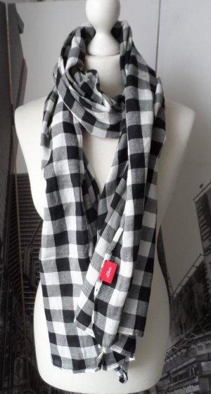 cooler s.Oliver XXL Schal mit Karomuster Schwarz Weiß wenig getragen