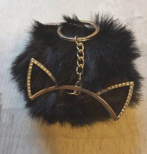 cooler Schlüsselanhänger / Taschenanhänger Katzen Puschel