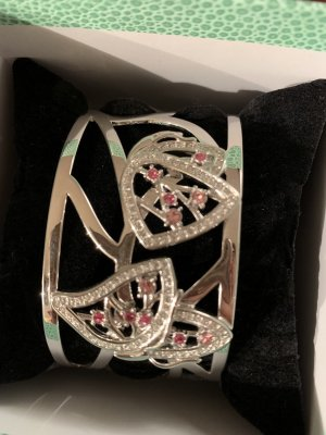 Pierre Lang Bangle silver-colored-raspberry-red