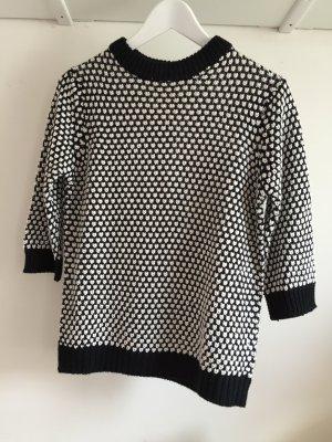 cooler schwarz/weiß Pullover Zara