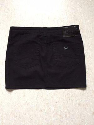 Cooler schwarzer Jeans-Mini-Rock von AJ Armani Jeans  in schwarz & Gr. 34 - 36