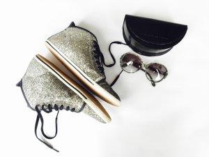 Cooler Sneaker / Tennisschuh von Marc by Marc Jacobs, Gr.39, Glitzer, Silber