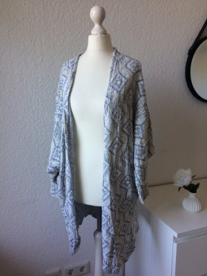 Cooler Sommer Mantel | Blau Weiß | Oversize