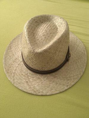 Cappello di paglia beige chiaro-marrone scuro