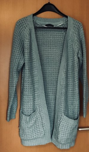 Atmosphere Knitted Coat sage green-pale blue polyacrylic