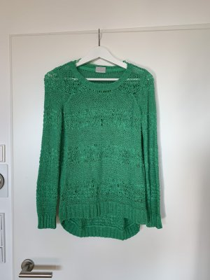 Cooler Strickpulli in Giftgrün