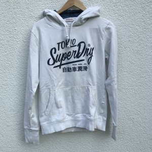 Superdry Hooded Sweater white-dark blue