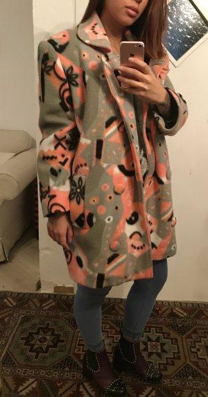 Cooler Vintage Wollmantel Jacke