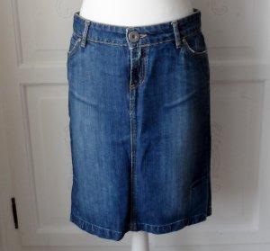 cooler Zara TRF Jeansrock Gr. 40 im used Look