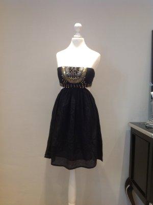 Cooles Bandeau-Kleid mit Bestickung am Ausschnitt und Cut-Out