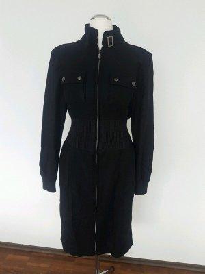 Belstaff Geklede jurk zwart-zilver Viscose