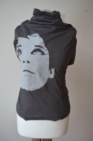 Cooles Designer Shirt mit Stehkragen - Unikat