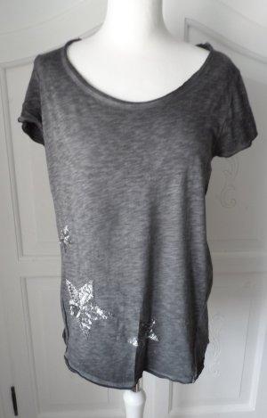 cooles EDC by Esprit T-Shirt Gr. M anthrazit mit Pailletten nur wenig getragen
