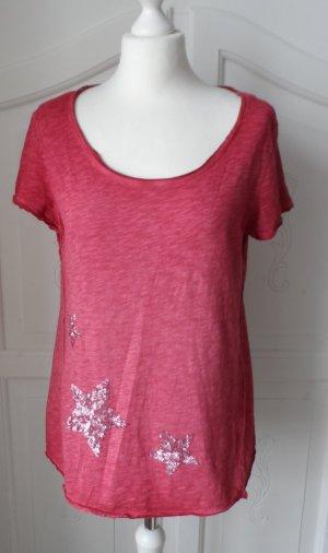 cooles EDC by Esprit T-Shirt Gr. M rot mit Pailletten nur 2 x getragen