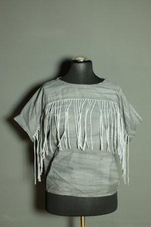 Cropped shirt grijs Katoen