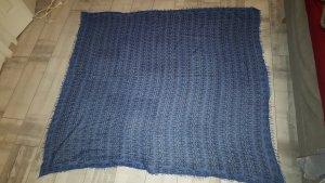 Cooles größes Tuch von Zadig & Voltaire, blau-schwarz mit Totenkopf wieNEU