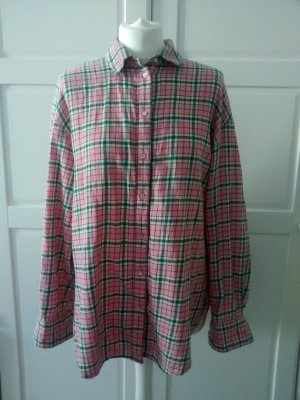 H&M Lumberjack Shirt pink-green grey cotton