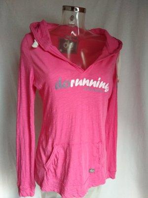 Camicia con cappuccio bianco-rosa