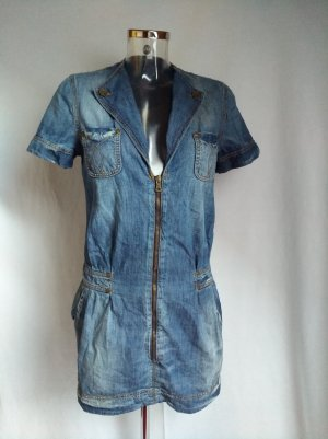 Patrizia Pepe Robe en jean gris ardoise-bleu acier