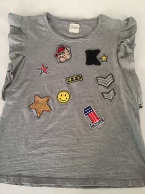 Cooles Kengstar oversize Shirt grau mit patches xs