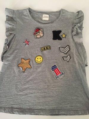 Cooles Kengstar oversize Shirt grau mit patches xs