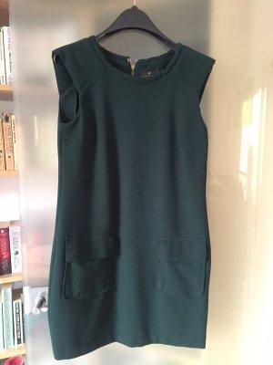 Cooles Kurzkleid Essentiel dunkelgrün mit Taschen, Gr. 38