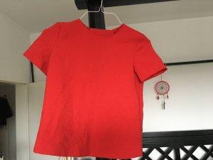 Cooles Muster-Top mit sexy Rueckenausschnitt. Zara Groesse XS. Rot