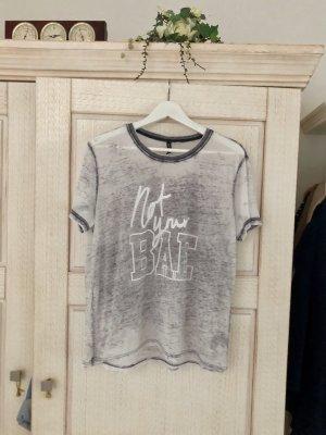 H&M Print Shirt slate-gray-light grey