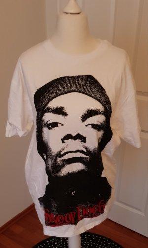 Bershka Lang shirt wit-zwart