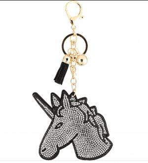 Sweet Deluxe Key Chain black-silver-colored