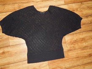 Cooles schwarzes strick Shirt Gr. S von zanzea