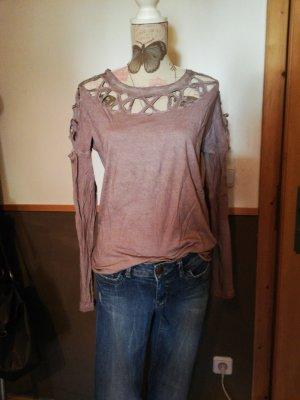 Cropped shirt lila