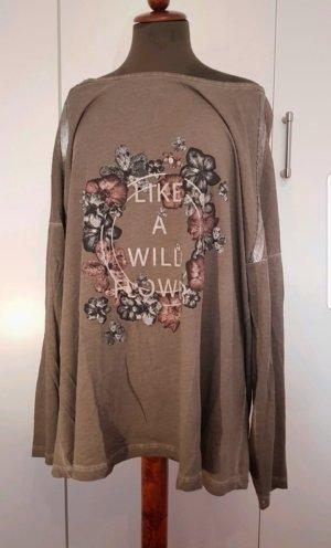 Cooles Shirt  Langarm Ulla Popken 46/48 paillette