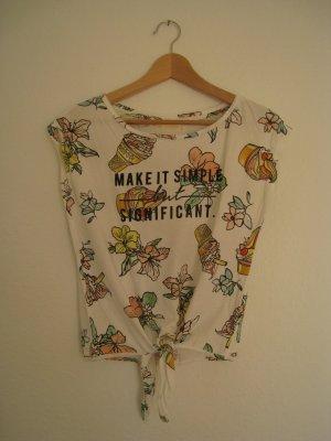 Cooles Shirt mit Eis- und Blumenprint