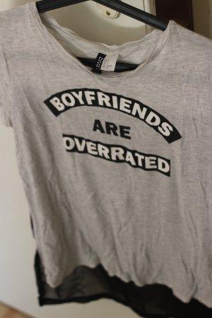 Cooles Shirt mit Mesh einsatz am Rücken Boyfriends are overrated