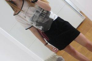Cooles Shirt mit schwarz/weiß-Print