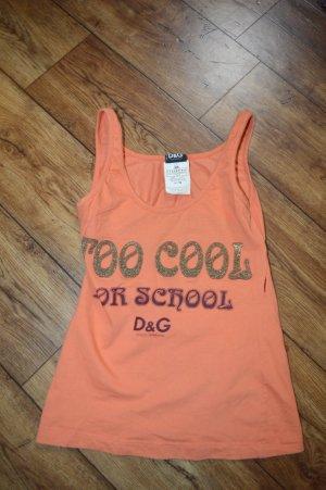 Cooles Shirt Rückenfrei Orange Glitzer XS von Dolche&Gabbana