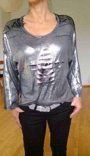 Made in Italy Camisa holgada color plata