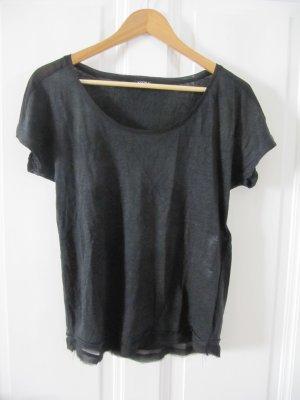 Cooles Shirt von KOOKAI Schwarz Leinen NEU
