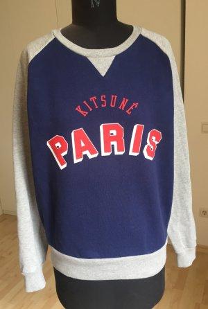 Cooles Sweatshirt von Kitsuné Paris, blau/grau, Größe M