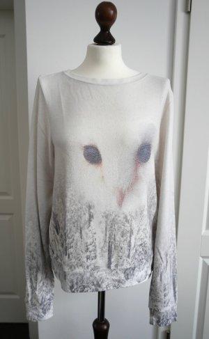 Cooles Sweatshirt von Wildfox mit Eule und winterlichem Waldmotiv Gr. M
