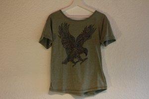 Cooles T-Shirt mit Adler Aufdruck/Nieten