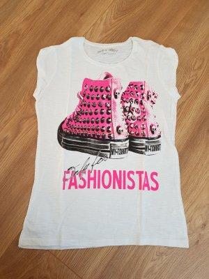 Cooles T-shirt mit pinkem Print!