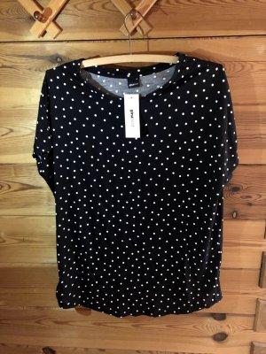 Cooles T-Shirt schwarz/gepunktet, 38
