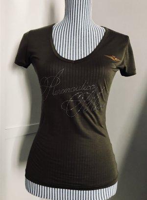 Aeronautica Militare T-shirt kaki-bronze lyocell