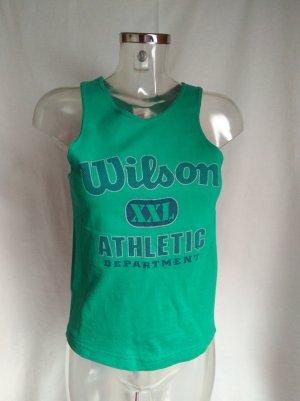 Wilson Camiseta sin mangas azul cadete-verde bosque Algodón