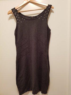 HM Woolen Dress silver-colored-dark grey