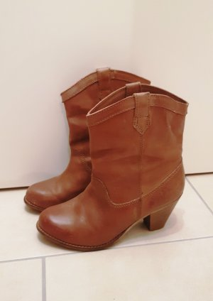 Cool Way Western Booties cognac-coloured-brown