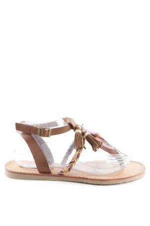 Coolway Toe-Post sandals light brown beach look