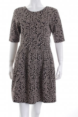 Cooperative by Urban Outfitters A-Linien Kleid schwarz-blasslila florales Muster
